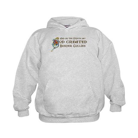 God Created Collies Kids Hoodie