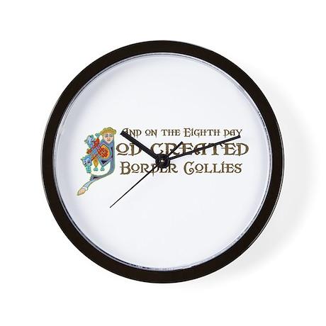 God Created Collies Wall Clock