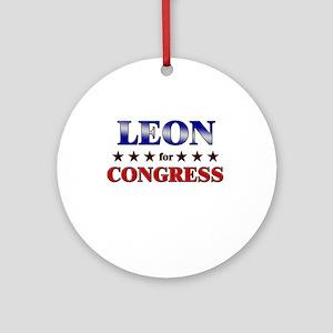 LEON for congress Ornament (Round)