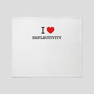 I Love REFLECTIVITY Throw Blanket