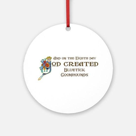 God Created Blueticks Ornament (Round)