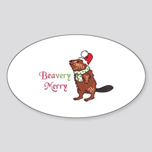 Beavery Merry Sticker