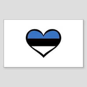 Estonia Love Rectangle Sticker