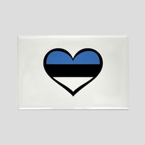 Estonia Love Rectangle Magnet