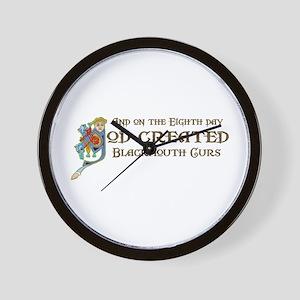 God Created Blackmouth Curs Wall Clock