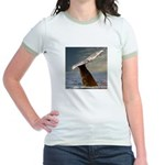 WILD SIDE WHALE Jr. Ringer T-Shirt