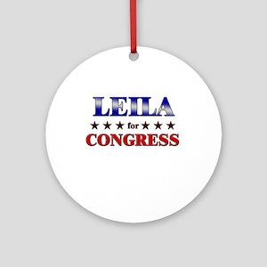 LEILA for congress Ornament (Round)