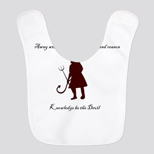 knowledge be the devil Polyester Baby Bib