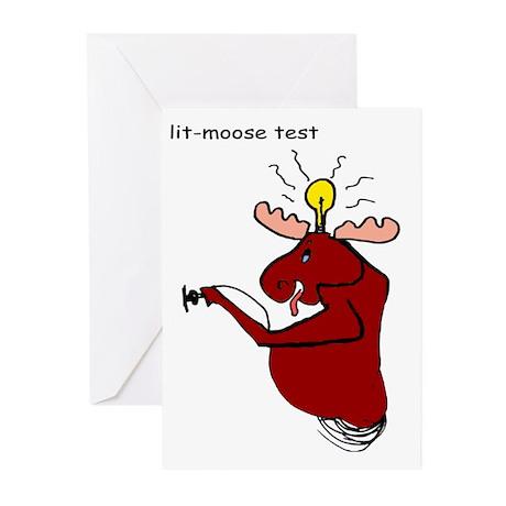 lit moose test cartoon Greeting Cards (Pk of 10)