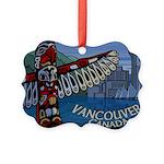 Vancouver Canada Souvenir Picture Ornament