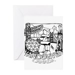 Vancouver Canada Souveni Greeting Cards (Pk of 10)