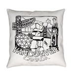 Vancouver Canada Souvenir Everyday Pillow