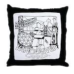 Vancouver Canada Souvenir Throw Pillow