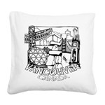 Vancouver Canada Souvenir Square Canvas Pillow