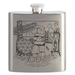 Vancouver Canada Souvenir Flask