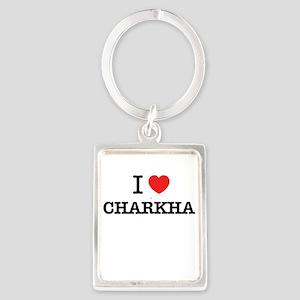 Charkha Photo Keychains - CafePress