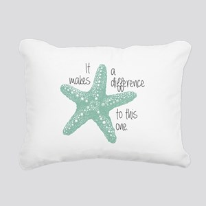 Makes a Difference Rectangular Canvas Pillow