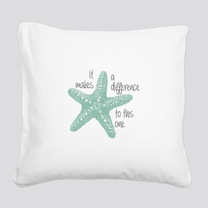 Makes a Difference Square Canvas Pillow