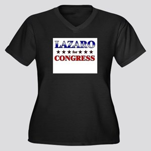 LAZARO for congress Women's Plus Size V-Neck Dark