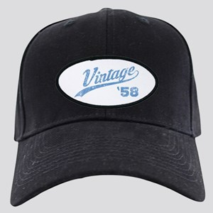 1958 Vintage Birthday Black Cap with Patch