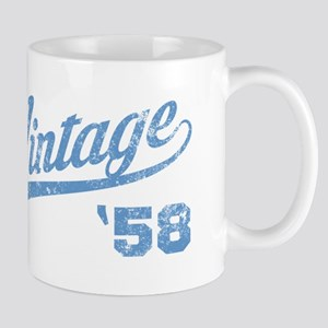 1958 Vintage Birthday Mugs