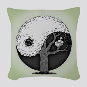 Nest In Peace Woven Throw Pillow