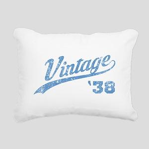 1938 Vintage Birthday Rectangular Canvas Pillow