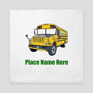 School Bus Queen Duvet