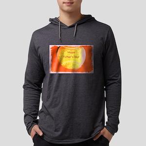 Orange Tennis Ball Fathers Day Long Sleeve T-Shirt