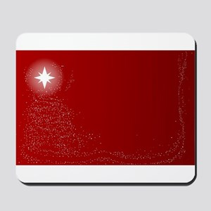 Red Dots Christmas Background Mousepad