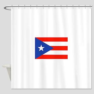 Boricua Puerto Rican Flag 4Quique Shower Curtain