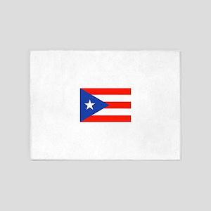 Boricua Puerto Rican Flag 4Quique 5'x7'Area Rug