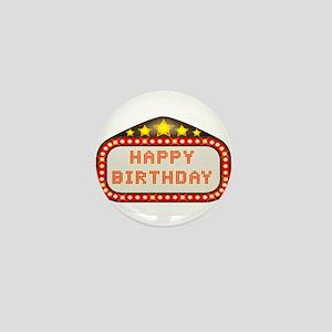 Cinema Marquee Happy Birthday Mini Button