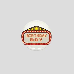 Cinema Marquee Birthday Boy Mini Button