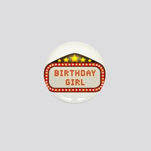 Cinema Marquee Birthday Girl Mini Button