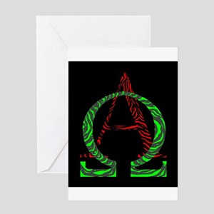 Alpha Omegs Sign Greeting Cards