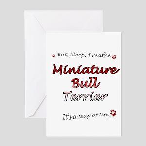 Mini Bull Breathe Greeting Card