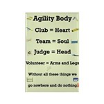 Agility Body Rectangle Magnet (10 pack)