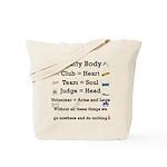 Agility Body Tote Bag