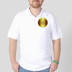 Presedent Seal In Gold Golf Shirt