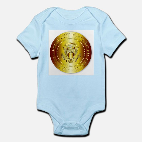 Presedent Seal In Gold Body Suit