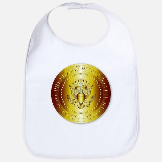 Presedent Seal In Gold Bib