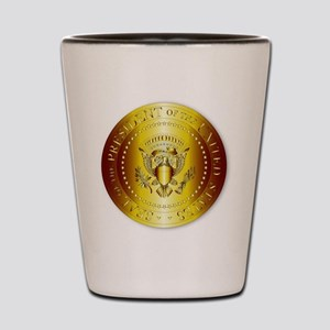 Presedent Seal In Gold Shot Glass