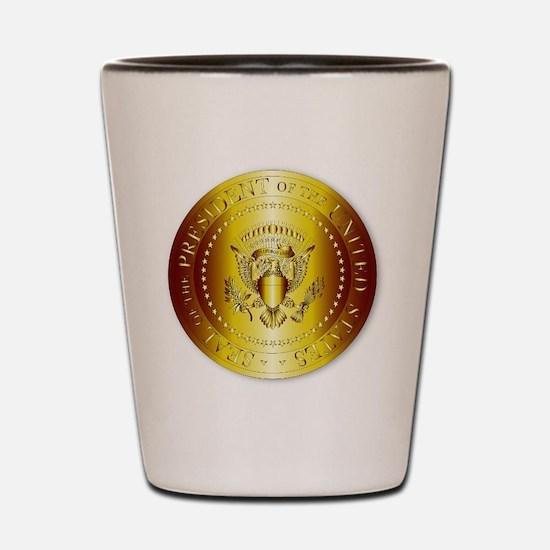 Presedent Seal In Gold Shot Glass