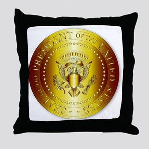 Presedent Seal In Gold Throw Pillow