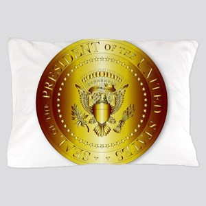 Presedent Seal In Gold Pillow Case