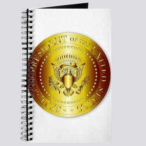Presedent Seal In Gold Journal