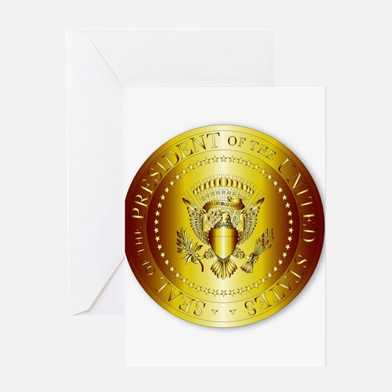 Presedent Seal In Gold Greeting Cards