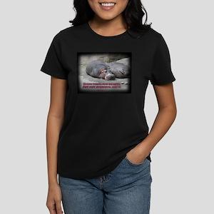 Hippos are beautiful! Women's Dark T-Shirt