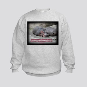 Hippos are beautiful! Kids Sweatshirt